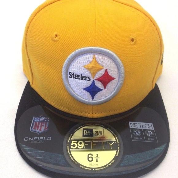 619bb97e8 Men's New Era Pittsburgh Steelers 59Fifty Sz 6 3/8 NWT